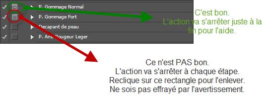 bug action pas a pas