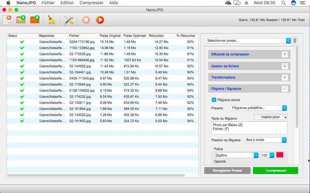 NanoJPG V3 pour windows et mac