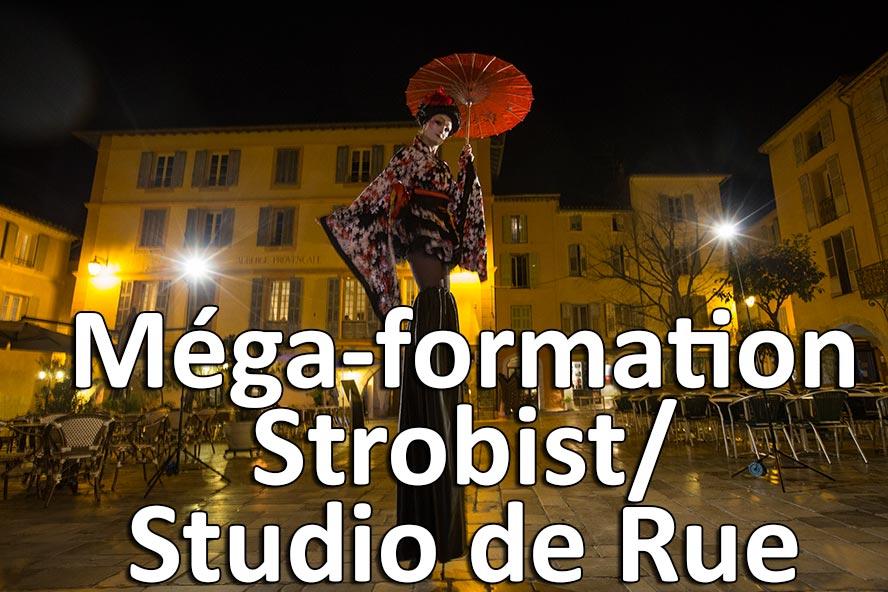 Mega formation strobist studio de rue